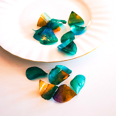 Edible Rose Petals - Turquoise