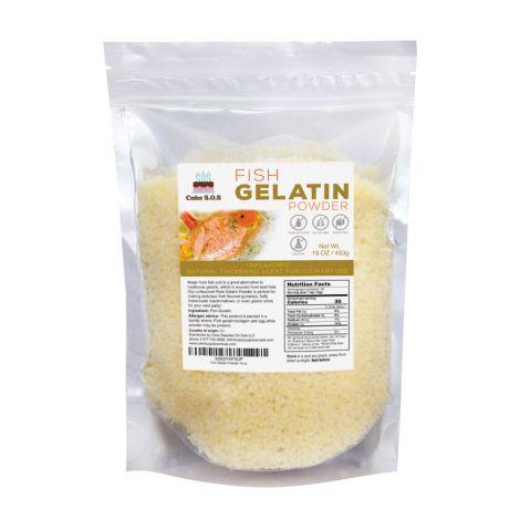 Fish Gelatin Powder 16 oz. by Cake S.O.S