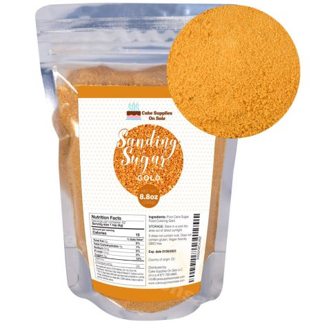 Sanding Sugar Gold 8.8 oz