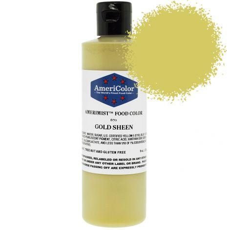 Amerimist Airbrush Color Gold Metalic Sheen 9 oz.