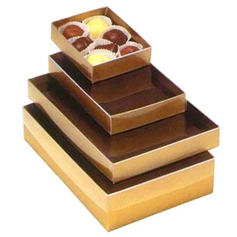 1/4# Clear Lid Gold Box
