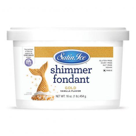 Satin Ice Gold Shimmer Fondant 1#
