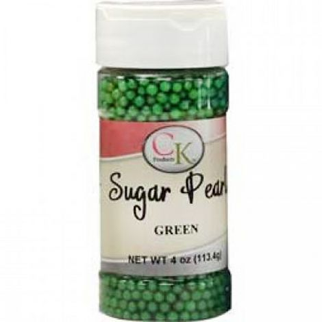 Green 3-4mm Sugar Pearls 4 OZ