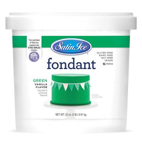 Satin Ice Fondant Green 2#