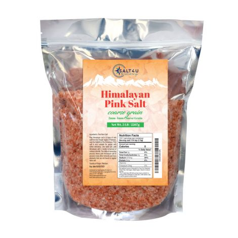 Himalayan Pink Salt, Coarse Grain 5 lb. by Salt 4U
