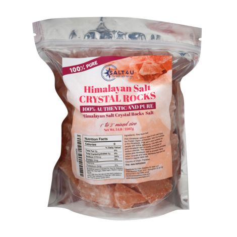 Himalayan Salt Crystal Rocks 5 lb., by Salt4U
