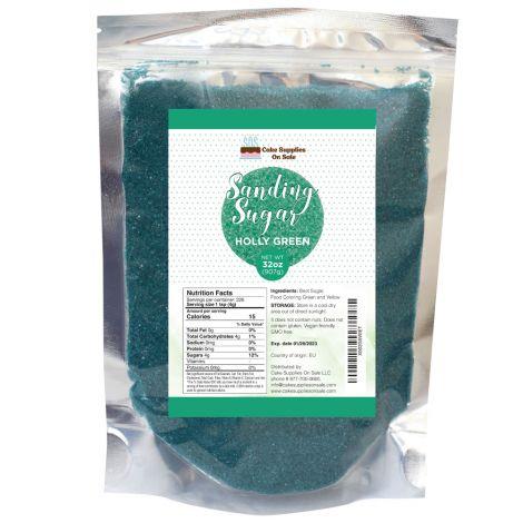 Sanding Sugar Holly Green, 32 oz
