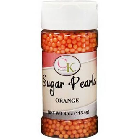 Orange 3-4mm Sugar Pearls 4 OZ