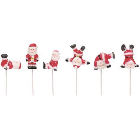 Tumbling Santas, Cupcake Pics, 6 ct.