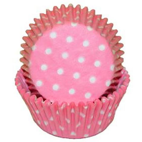 Light Pink Polka Dot Mini Baking Cups, 500 ct.