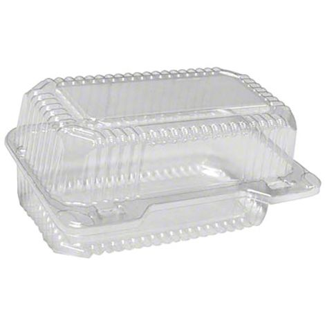 Loaf Deep Hinge Container, 6 ct