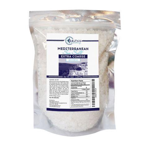 Mediterranean Sea Salt, Extra Coarse Grain 5 lb. by Salt 4U