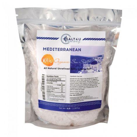 Mediterranean Raw Organic Sea Salt 5 lb. by Salt 4U