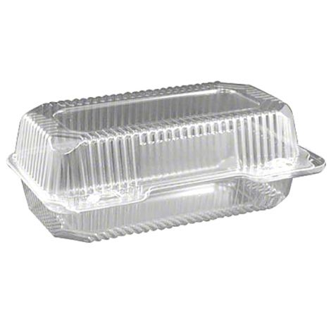 "Multi-Purpose Loaf Hinge Container - 9"" x 5 1/2"" x 3 1/2"", 6 ct"