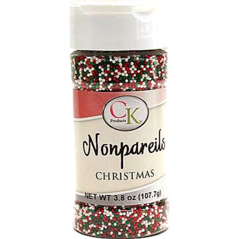3.8 oz Non-Pareils Christmas