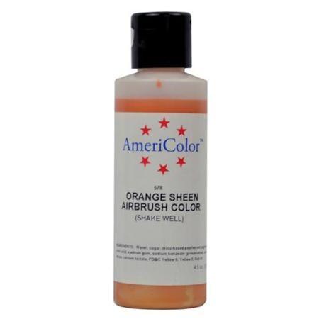 Amerimist Airbrush Color Orange Metalic Sheen 4.5 oz