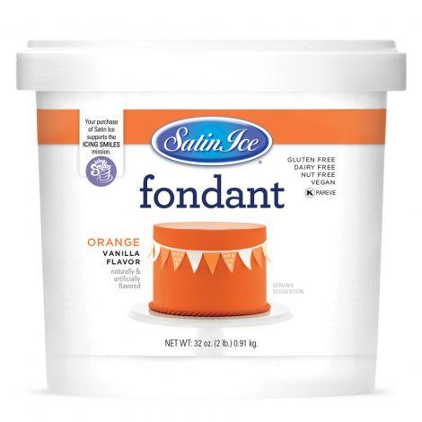 Satin Ice Fondant Orange 2#
