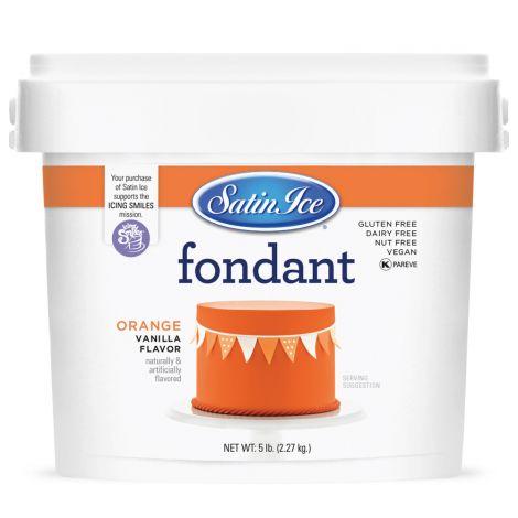 Satin Ice Fondant Orange 5#