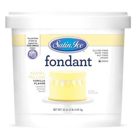 Satin Ice Fondant Pastel Yellow 2#