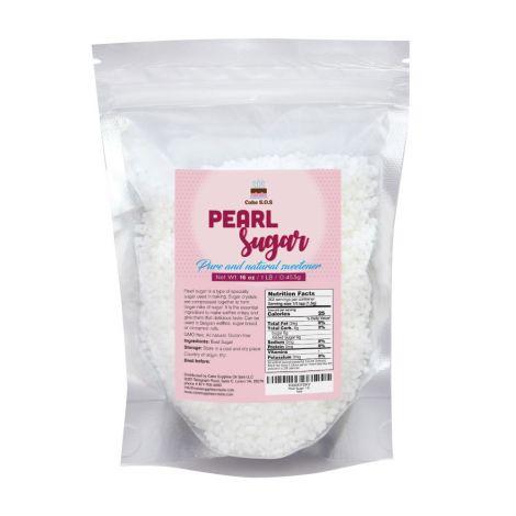 Pearl Sugar 16 oz. by Cake S.O.S