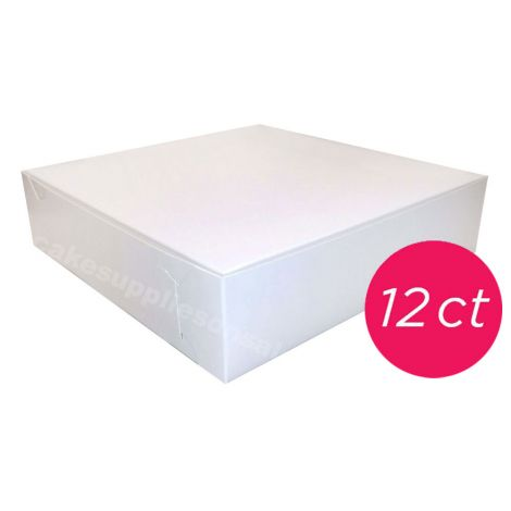 10x10x2 1/2 White Pie Box 12 ct