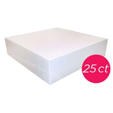 10x10x2 1/2 White Pie Box 25 ct