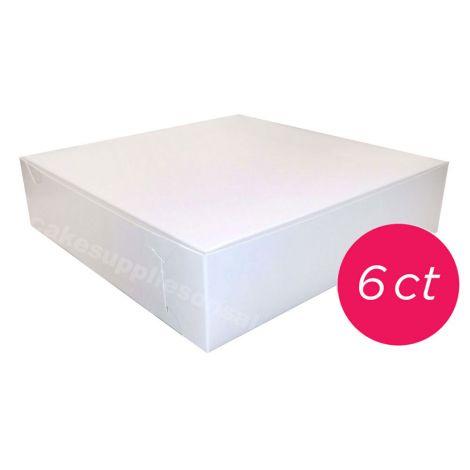 10x10x2 1/2 White Pie Box 6 ct