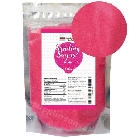 Sanding Sugar Pink 8.8 oz