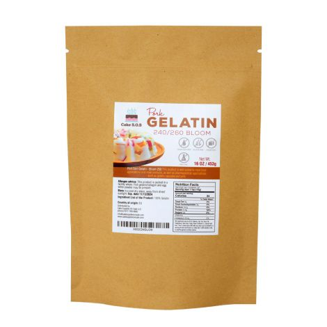 Pork Gelatin 240/260 Bloom, 16 oz