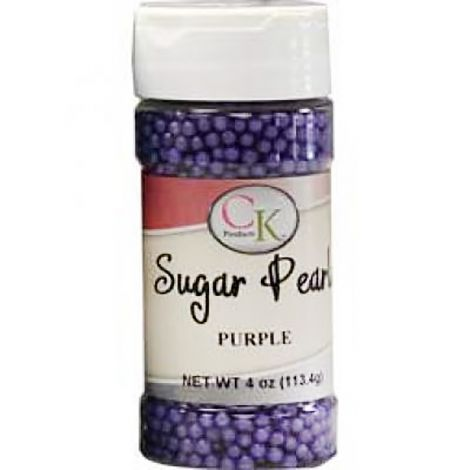 Purple 3-4mm Sugar Pearls 4 OZ