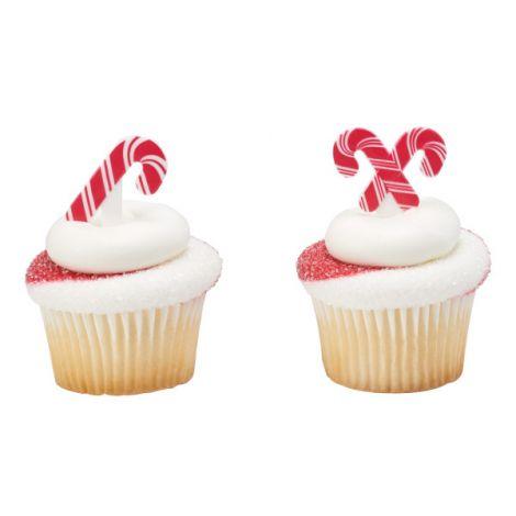 Candy Cane, Cupcake Pics, 12 ct