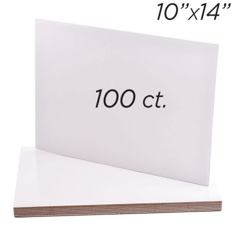 "10""x14"" Rectangle Coated Cakeboard, 100 ct"