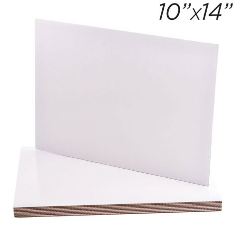 """10""""x14"""" Rectangle Coated Cakeboard, 25 ct"""