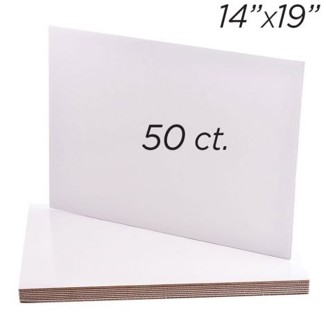 "14""x19"" Rectangle Coated Cakeboard, 50 ct"
