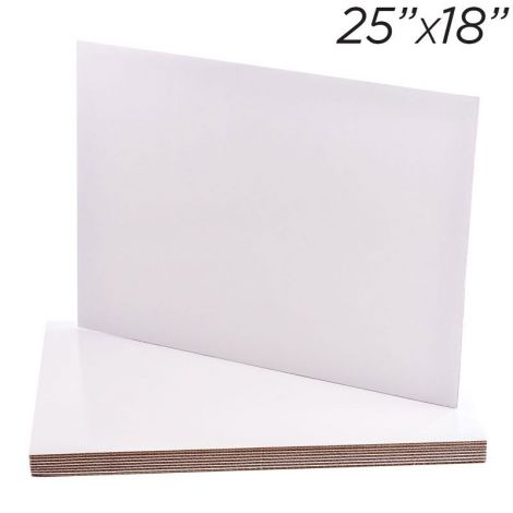 """25""""x18"""" Rectangle Coated Cakeboard, 25 ct"""