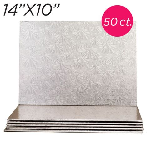 """14x10 Silver Thin Drum 1/4"""", 50 count"""