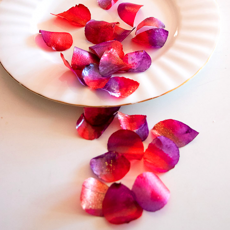 Edible Rose Petals - Red and Purple