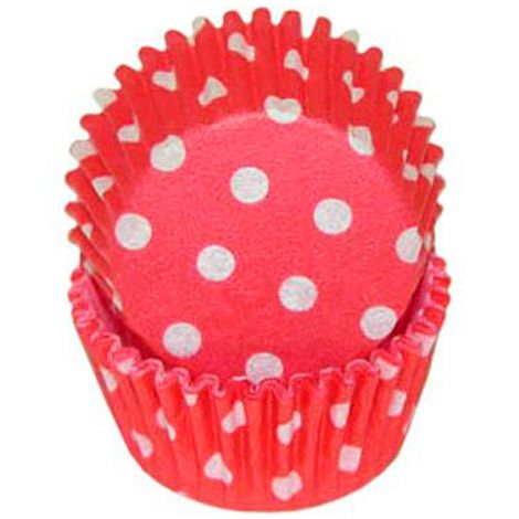 Red Polka Dot Mini Baking Cups, 500 ct.