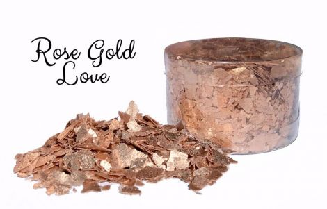 Edible Flakes - Rose Gold Love