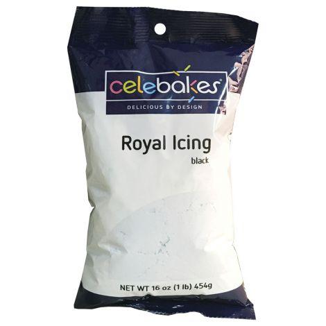Celebakes Royal Icing Mix - Black, 1 pound