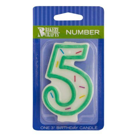 Sprinkle Candles Number 5