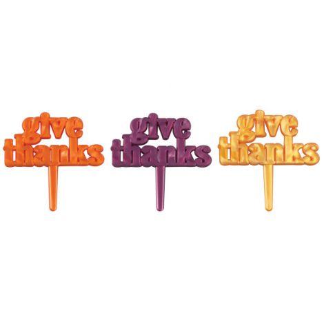 Give Thanks Iridescent, Cupcake Pics, 12 ct.