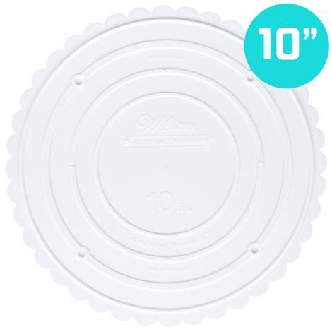 """Scallop Edge Separator Plate 10"""" Round"""