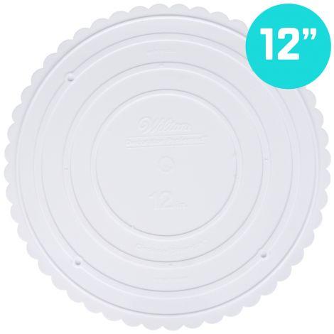 """Scallop Edge Separator Plate 12"""" Round"""
