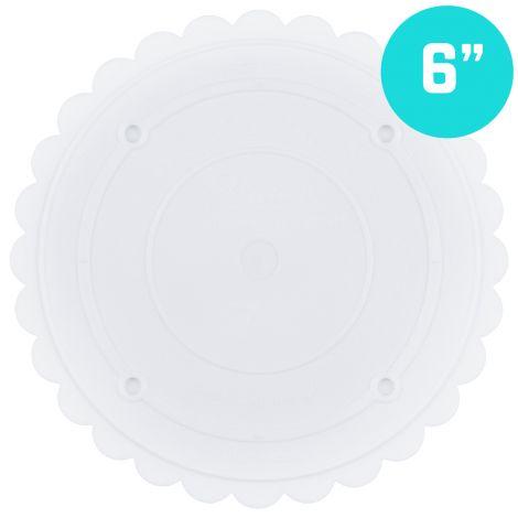 """Scallop Edge Separator Plate 6"""" Round"""