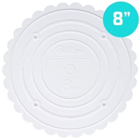 """Scallop Edge Separator Plate 8"""" Round"""