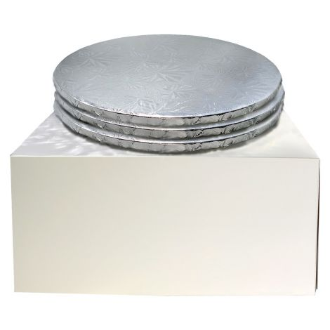 """10"""" Combo Pack With 1/2"""" Round Silver Drum, 3 ct."""