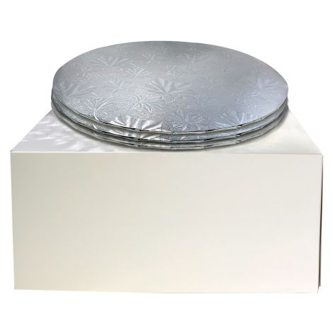 """12"""" Combo Pack With 1/4"""" Round Silver Drum, 3 ct."""