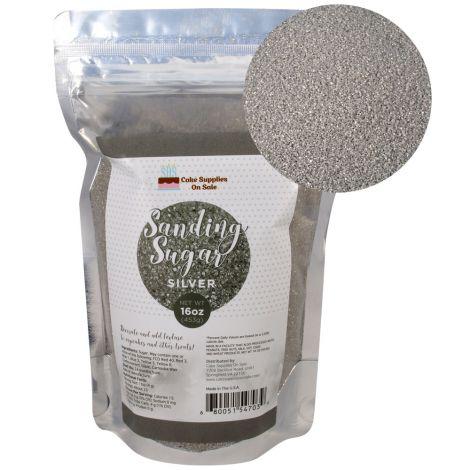 Sanding Sugar Silver 16 oz