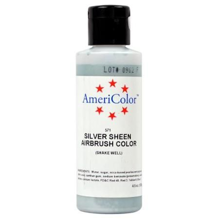 Amerimist Airbrush Color Silver Metalic Sheen 4.5 oz